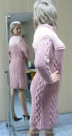 ABC Knitting Patterns - Seamless Cable Dress