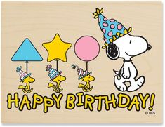 Image Detail For Snoopy Happy Birthday Peanuts Wood Mounted Rubber Stamp PEUR 1006
