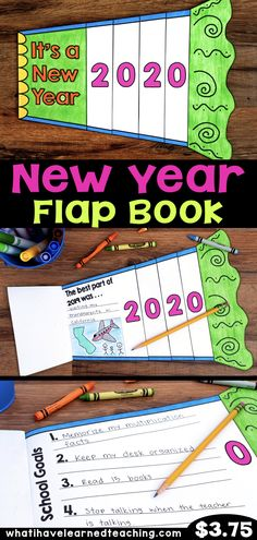 Ring in the New Year by having students reflect on their best moment in the previous year and set personal and academic goals for the New Year. This flap book gives students an opportunity to set meaningful SMART goals during the first couple weeks back a New Years Activities, Holiday Activities, Writing Activities, Classroom Activities, Classroom Ideas, Goal Setting Activities, Classroom Helpers, Superhero Classroom, Teacher Helper