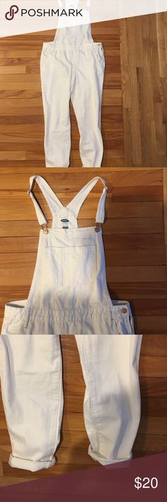 White denim overalls Brand new never worn Old Navy Pants Jumpsuits & Rompers