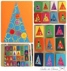 Postales solidarias para Ángeles sin alas hechas por los alumnos de 2º de primaria. Aula de Elena.