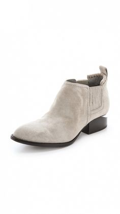 Kori Ankle Booties With Rhodium Hardware by Alexander Wang