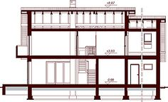 Przekrój DN KENDRA 2M CE Lany, Shelving, Bookcase, How To Plan, Home Decor, Houses, Shelves, Decoration Home, Room Decor