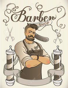 Barber Shop Pole, Barber Shop Decor, Barber Poster, Barber Logo, Hipster Design, Barber Business Cards, Barber Games, Barber Shop Quartet, Barbers Cut