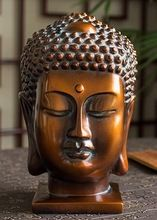Venta exclusiva cabeza de buda artesanías de resina adornos retro bar decoración del hogar budista 19 x 17 x 26 cm(China (Mainland))