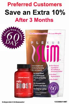 Buy Plexus Slim Online as a Preferred Customer, Save money now and Save 10% More in 3 months!  www.gethealthyjourney.com www.plexusleah.com Ambassador# 342546  https://www.facebook.com/pages/Get-Healthy-With-Leah/1615760395309771
