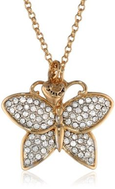 """Juicy Couture Pave Butterfly Necklace, 31.21"""" Juicy Couture http://www.amazon.com/dp/B00FONN2PI/ref=cm_sw_r_pi_dp_ViJUtb12WZA5FC25"""