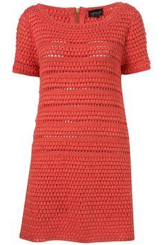 Crochetemoda: Crochet -Vestido Coral