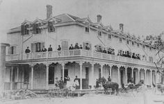 Ocean House on Hamilton Beach strip. Ocean House was one of the most popular hotels in the area. It was destroyed by fire in the late 1890