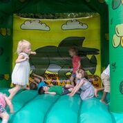 There's fun to be had for kids at the wedding in our church grounds. Space for a game of football, a BBQ, marquee and bouncy castle. Got Married, Getting Married, Bouncy Castle, Party Venues, Christening, Bbq, Football, Weddings, Game