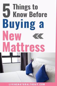 5 Things I Wish I Had Known Before Buying a New Mattress Before you buy a new mattress, you should read this. Here are 5 things you should know which will help you purchase a non toxic mattress. Mattress Sets, Best Mattress, Furniture For You, Custom Furniture, Natural Bedroom, House Information, Green Living Tips, I Wish I Had