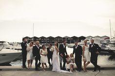 Gruppenfoto am Hafen #gruppenfoto #hochzeit