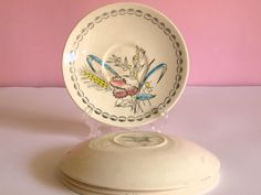 Vintage 60s Broadhurst hand painted Saucers  Set of by FunkyKoala