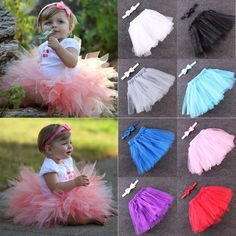 d151a17165e74 Awesome Cute Kids Girls Toddler Baby Bow Flower Tutu Skirts Photography  Princess Skirt -  8.13 -