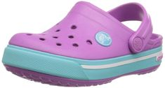 crocs Kids' Crocband Clog (Toddler/Little Kid), Neon Magenta/Bluebell, M US Little Kid Slip-on clog in Croslite featuring perforated vamp and pivoting heel strap Clogs Outfit, Crocs Crocband, Crocs Shoes, Fort Lauderdale, Magenta, Toddler Crocs, Cute Baby Clothes, Unisex, Mules Shoes