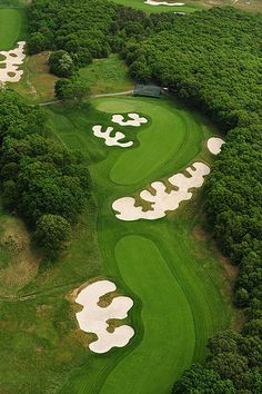 The Bethpage Black Course is a public golf course on Long Island, New York, the most difficult of the five courses at Bethpage State Park #Golf