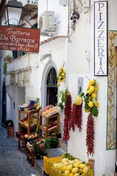 Amalfi Coast , Italy - A delicious lunch in Sorrento and a drive along the Amalfi Coast - nothing like it!                                                                                                                                                     More