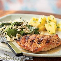 Grilled Salmon with Apricot-Mustard Glaze | MyRecipes.com  Get the Cave Tools Meat Claw at 20% off here: http://cavetools.com/socialmfpromo