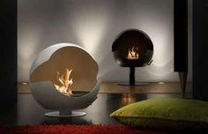 calefacción de diseño chimenea globe
