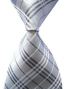 Allbebe Men's Classic Checks Silver Jacquard Woven Silk T... https://www.amazon.com/dp/B018SDUZL4/ref=cm_sw_r_pi_dp_mQfHxbZZY8QGZ
