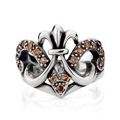 925 Sterling Silver Inlayed Gemstones Chrome Heart Antique Ring Gift for Men