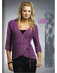 Crochet Wrap Sweater - free pattern