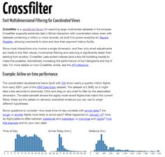 Crossfilter is a Javascript library for exploring large multivariate datasets in the browser.