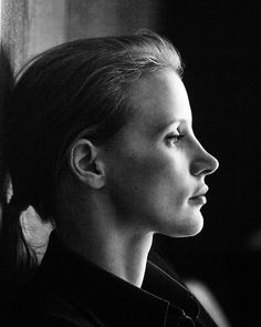 Jessica Chastain. I love that she's passionate about changing the face of women in cinema. A passionate, talented, and spirited woman.