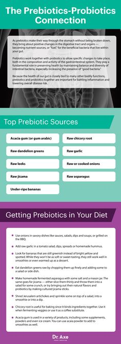 Prebiotics-probiotics connection - Dr. Axe http://www.draxe.com #health #holistic #natural