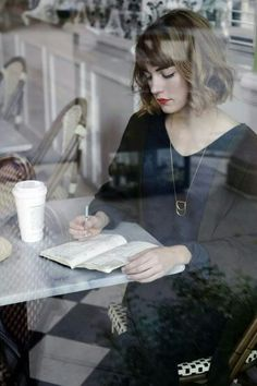 'I'm holding a pen but I have nothing to write' she thought..then she went to the café, the agreement with herself being, she would observe & breathe but quite soon it became apparent that inspiration was surrounding her..it wasn't that it hadn't been there before, it was that she couldn't see it before...