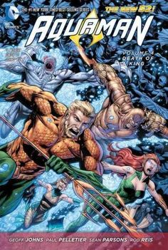 """Unfolding out of the events of """"THRONE OF ATLANTIS"""" comes a mystery that sends Aquaman to the ends of the Earth to solve an ancient murder--one that will reveal a horrific truth about Arthur Curry and"""