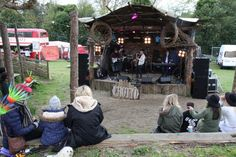 Wooden grotto stage, vantastival