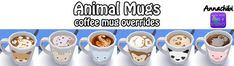 Animal and Galaxy coffee mug overrides! at Annachibi's Sims via Sims 4 Updates