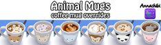 Animal and Galaxy coffee mug overrides! at Annachibi's Sims via Sims 4 Updates
