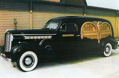 1938 Buick Hearse used for groceries when not occupied.
