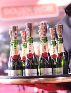 Mini champagne bottles | Golden Globes Awards Arrivals - Moet & Chandon | SocialTables.com | Event Planning Software