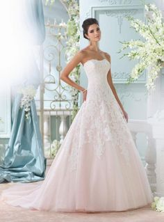 Romantic David Tutera for Mon Cheri wedding dresses