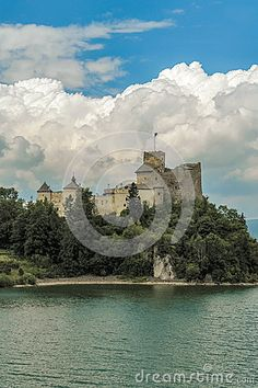 Photo about Nidzica castle on the hill. Image of ruins, castle, clouds - 69845819 Castle On The Hill, Niagara Falls, Poland, Europe, Clouds, Stock Photos, Nature, Travel, Image