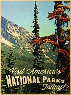 vintage national park poster