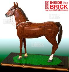 ⌘ Lego® Phar Lap, Champion Racehorse by Rob Deakin. Life Size Legos, Lego Jokes, Legoland California, Simple Canvas Paintings, Lego Animals, Lego Builder, Lego Craft, In The Zoo, Lego Design