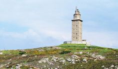 tower of hercules, spain. the oldest working roman era lighthouse in the world