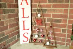 DIY {Crate & Barrel Knock-Off} Ornament Trees | Domestically Speaking