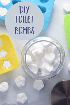 Home Decoration Ideas Homemade Make these DIY Fizzy Toilet Bombs to freshen and deodorize your toilet in between cleanings. An easy addition to your non-toxic bathroom cleaning routine. Diy Cleaners, Cleaners Homemade, Diy Cleaning Products, Cleaning Hacks, Essential Oils Air Freshner, Fizzy Toilet Bombs, Homemade Biscuits Recipe, Chemical Free Cleaning, Natural Bathroom