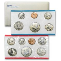 1981 P /& D Mint Set 13 Brilliant Uncirculated US Coins as Issued W// COA