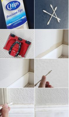 paint around trim with a precision tip q-tip