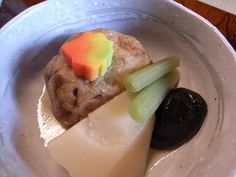 Ganmodoki is a fried tofu fritter made with egg whites and vegetables.