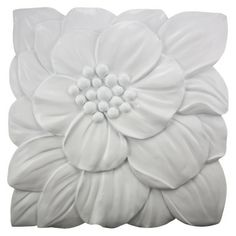 Floral Wall Sculpture - White
