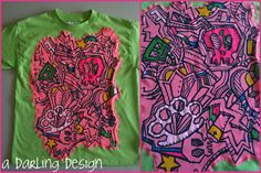 """upcycled t-shirt      For Sale   $3   http://adarlingdesign.storenvy.com/products/404244-upcycled-t-shirt  please do not remove """"a darling design"""" or repost as your own"""