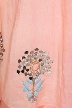 Pink mirror work lehenga set by Jade by monica and karishma Embroidery Suits Punjabi, Zardozi Embroidery, Hand Work Embroidery, Hand Embroidery Designs, Beaded Embroidery, Embroidery Patterns, Creative Embroidery, Embroidery Dress, Mirror Work Lehenga