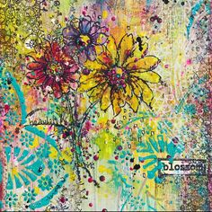 Beautiful Blossom - I loVe mixing my Art Alchemy Impasto Paints, Waxes, Metallique Paints, Sparks Paints - they make for a kaleidoscope of color xoxo
